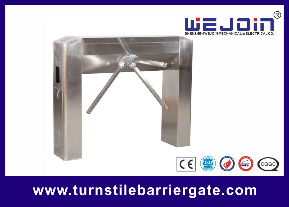 Half Height Tripod Boom Turnstile Barrier Gate Stainless Steel With Emergency Alarm